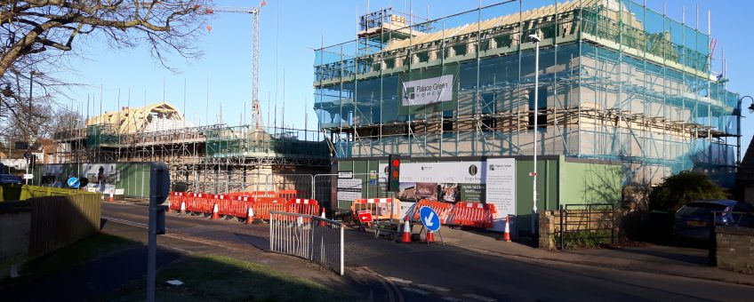 Site Progress at Barton Road Housing Development, Ely news banner