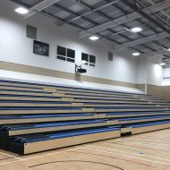 T J Evers opens the doors to a new sports hall at Kingshott School